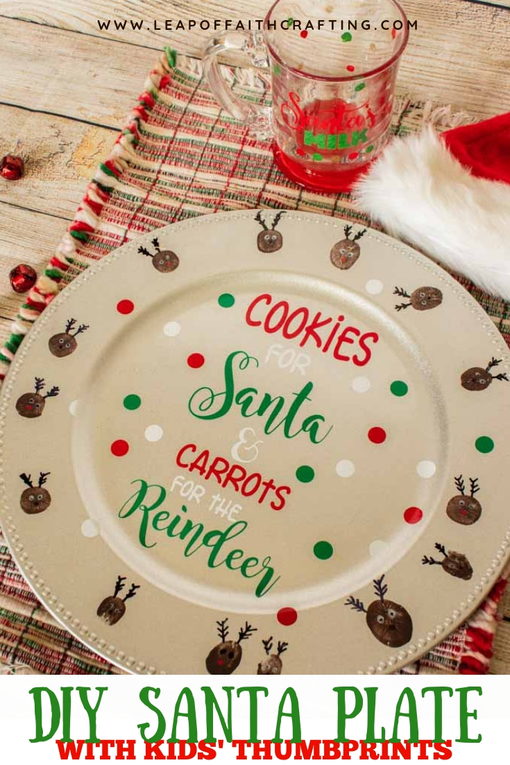 personalized cookies for santa plate pin