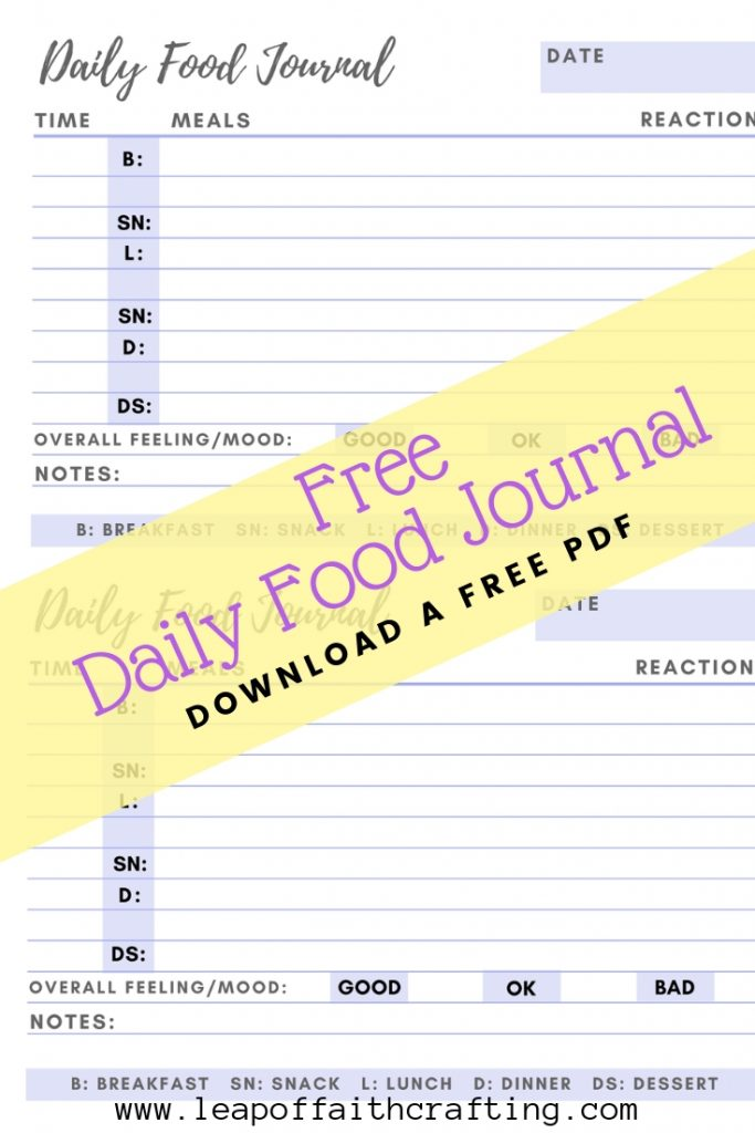 photograph relating to Printable Food Diaries identified as Food items Diary PDF: Seize a Totally free Printable toward Maintain Monitor of Your