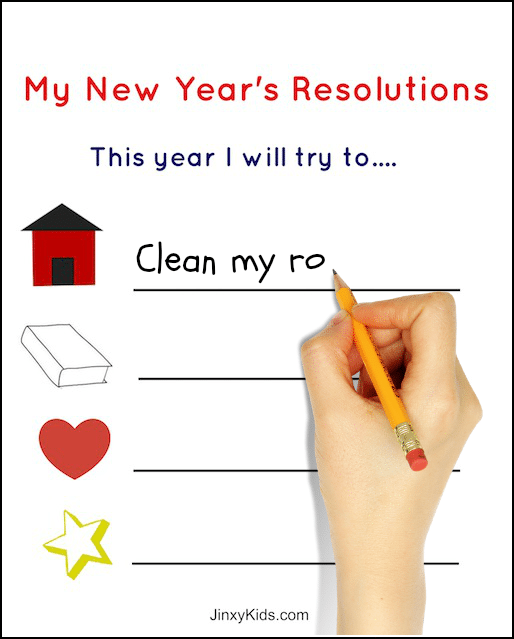 kids new years resolutions worksheet
