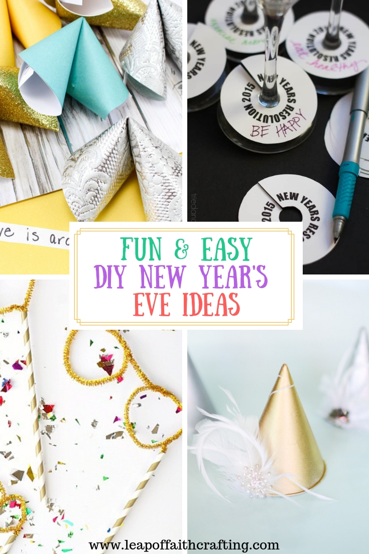 New Years Party Ideas! Fun and Easy DIY NYE party favors, games, printables, and photo booth ideas. #diynewyears #newyears #newyearseve #newyearseveparty #newyearsevepartyideas