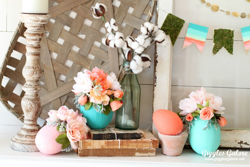 colorful farmhouse easter decor