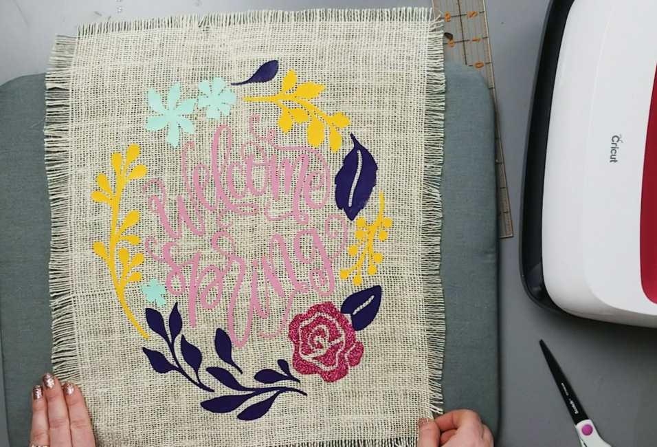 cricut easy press projects burlap