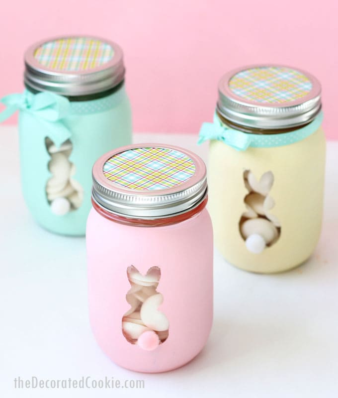 easter bunny mason jars photo