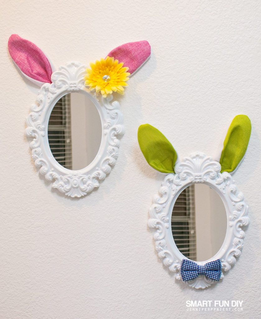 easter bunny mirrors cents only store crafts jenniferppriest