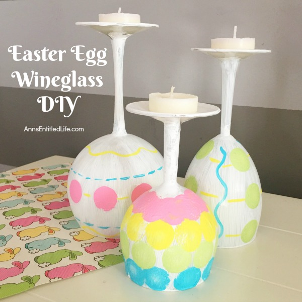 easter egg wineglass diy square
