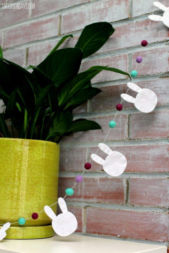felt bunny garland free pattern