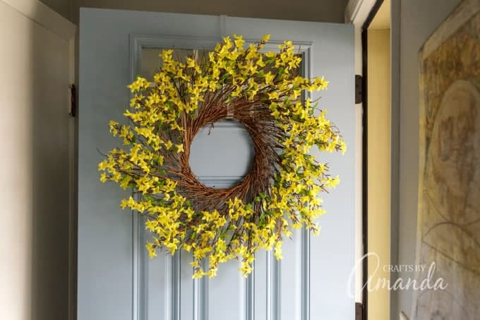 how to make a forsythia wreath h