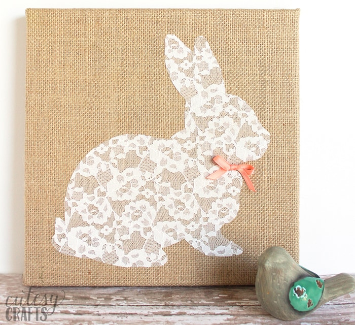 lace bunny easter craft