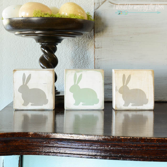painted bunny blocks