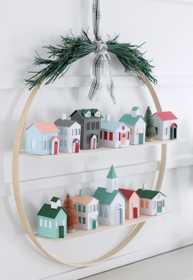 christmas hoop wreath