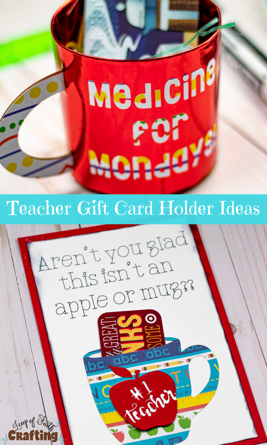 Teacher appreciation gift ideas!  Make DIY cute gift card holders with a Cricut!  Video tutorial!  #teacherappreciation #cricut