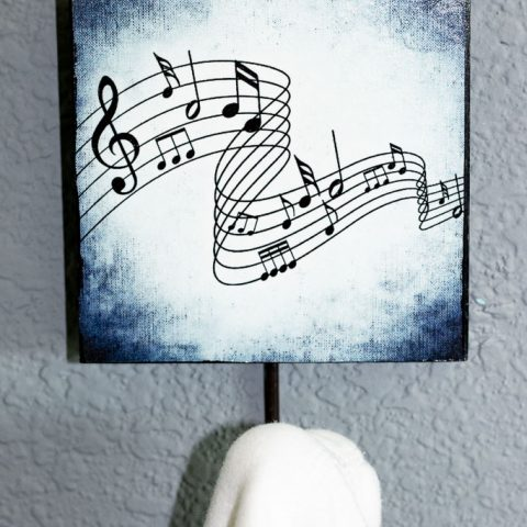Decoupage on Wood Decor:  Easy Upcycled Wall Art for Free!