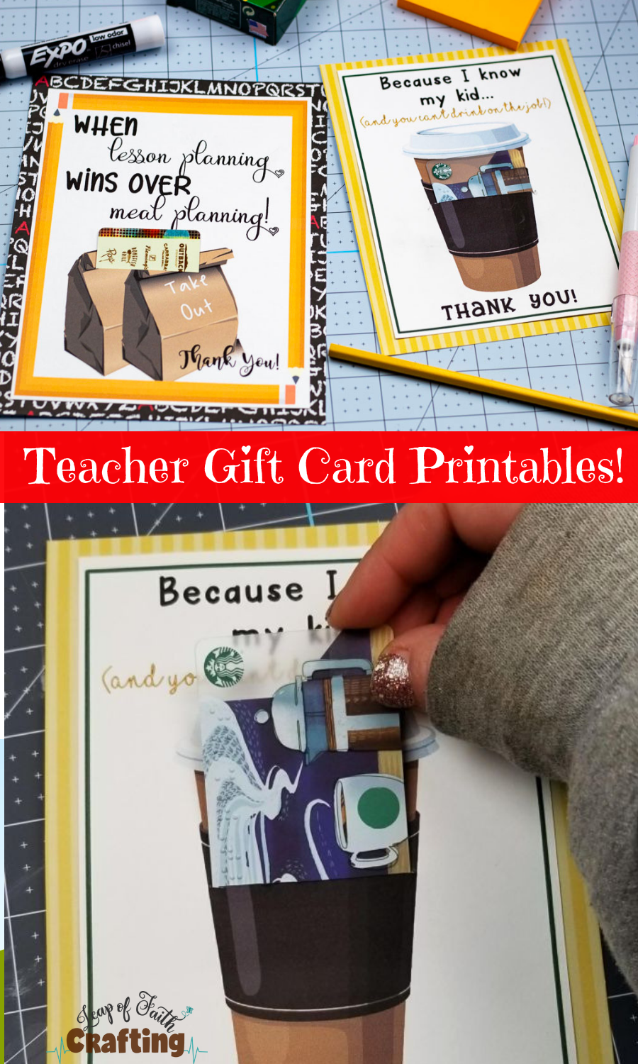 image regarding Printable Teacher Appreciation Card called Printable Instructor Appreciation Playing cards: Only Incorporate a Reward Card