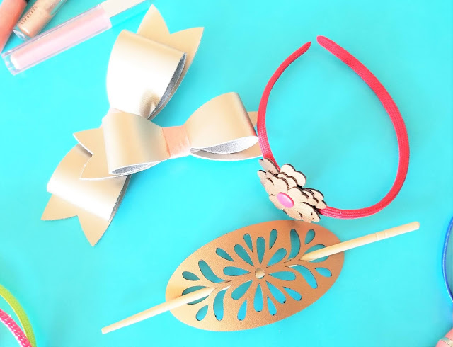 how to make leather hair accessories