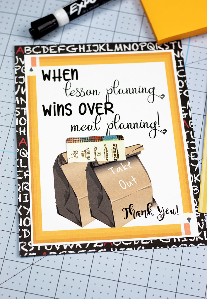 picture relating to Teacher Appreciation Cards Printable titled Printable Trainer Appreciation Playing cards: Simply Insert a Present Card
