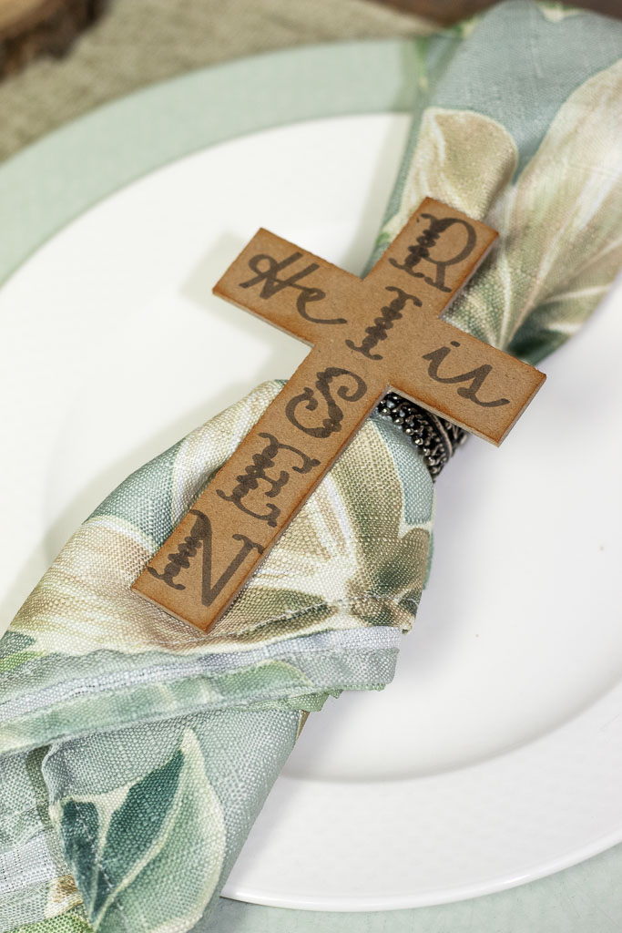 rustic easter napkin rings