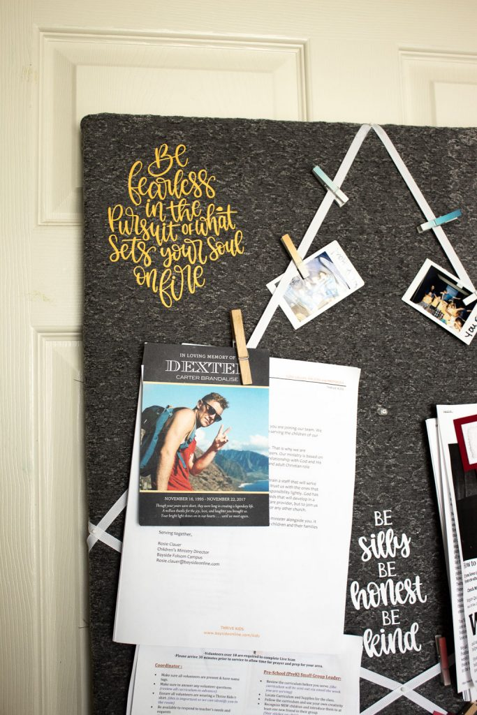 fabric memo board diy