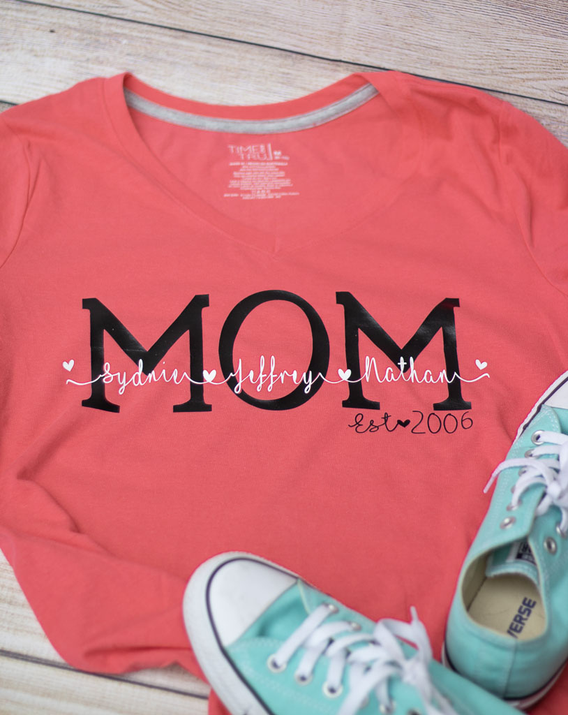 67104c0b6 Personalized Shirts for Mom: DIY Gift That Mom's Will Love! - Leap ...