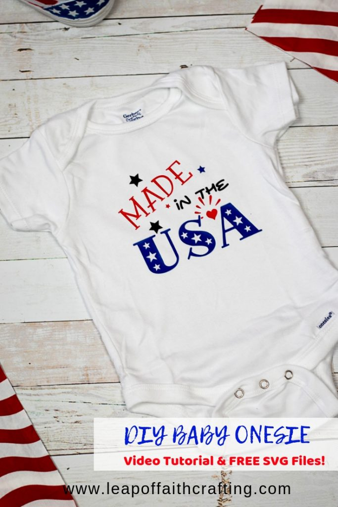 diy baby onesie pin
