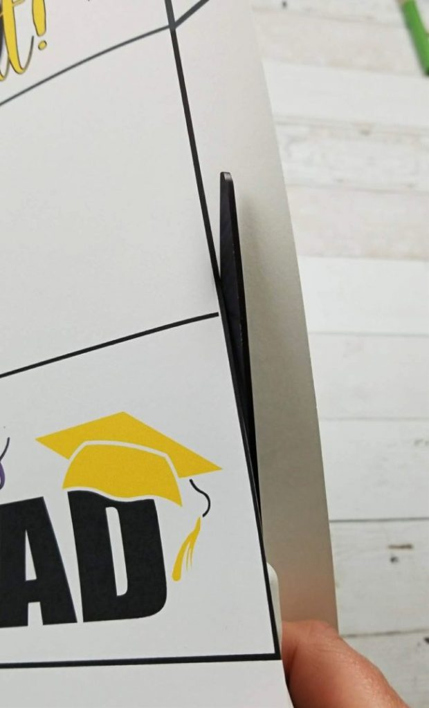 cutting out printable graduation card