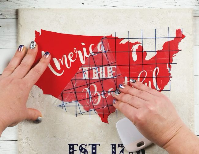patriotic decor diy tile