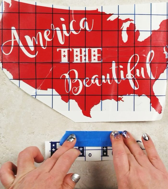 patriotic home decor diy tile