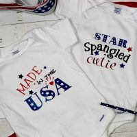 Baby 4th of July Outfit:  DIY Onesies with FREE 4th of July SVG Files!