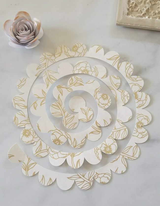 cricut paper flowers tutorial