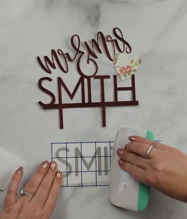 diy wedding cake topper