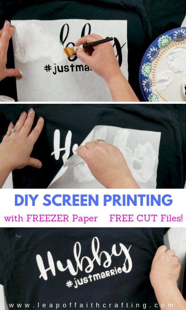 freezer paper shirt hubby pin
