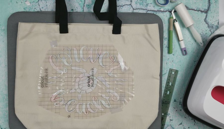 infusible ink diy beach bag
